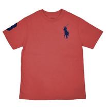 Polo Ralph Lauren Boys Red Big Pony Short Sleeve Tee Shirt Small (8)  91... - $18.50