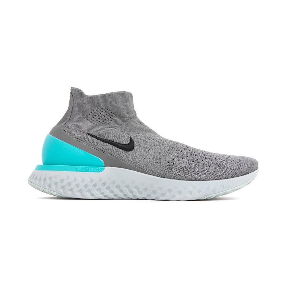 Nike rise react flyknit gunsmoke black dark stucco aurora green av5554 002  december 05 2018 8ce2bde9f320d