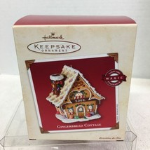 2002 Gingerbread Cottage Light Hallmark Christmas Tree Ornament MIB Price Tag H5 - $32.18