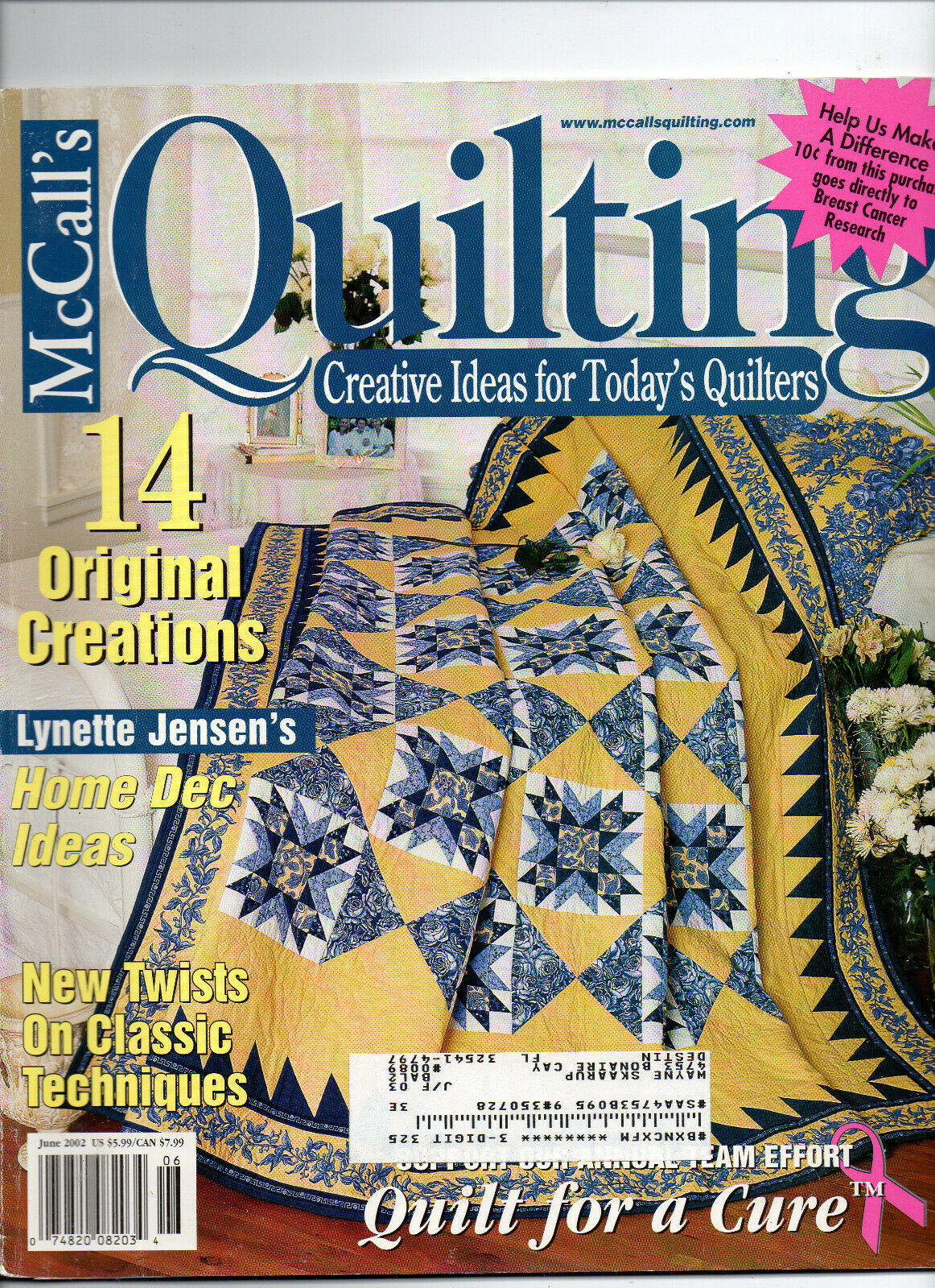 Primary image for June 2002/McCall's Quilting/Preowned Craft Magazine