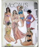 McCalls M4471 Two Piece Bathing Suits Pareo Wrap Swim Wear Suits Sewing ... - $12.00