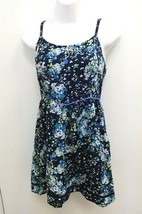 Aeropostle Womens Junior Medium Dress Sundress Blue Floral Crochet Trim ... - €10,68 EUR
