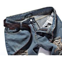 High quality men's jeans Casual  hole jeans men balmai jeans men denim trousers  image 6