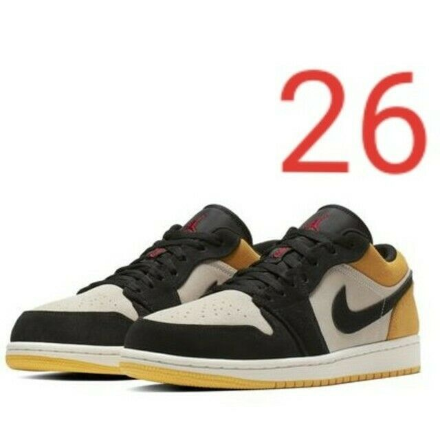 classic fit 02af6 67300 Men 8Us 26㎠ Nike Air Jordan 1 Low Yellow -  239.99