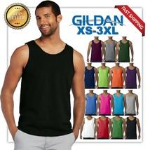 Gildan Tank Top Ultra Cotton Mens Workout Fitness gym Shirt Solid Color ... - $6.92+