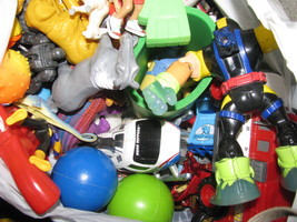whs lots of 15 pounds of small toys car plastic Childs animals - $40.00