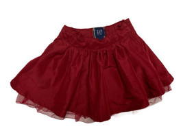 Gap Kids toddlers girls A line lined party skirt burgundy size 4 - $9.59