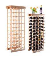 New 44 Bottle Wood Wine Rack Display Shelves Ki... - $36.79