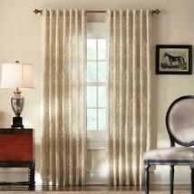 "NEW 2 Pack Tonal Damask Light Filtering Window Panels in Cream 50"" x 84"" - $28.50"