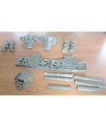 23 Piece Antique Clock Columns Feet Lion Head Plates For Parts or Restor... - $37.99