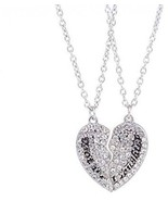Mother Daughter Heart Pendant Necklace Set,Two 2 Matching Heart Mom And... - $22.88