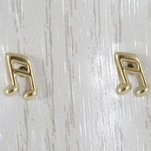 ORECCHINI ORO GIALLO O BIANCO 750 18K, NOTA MUSICALE, LUNGHEZZA 0.7 CM image 2