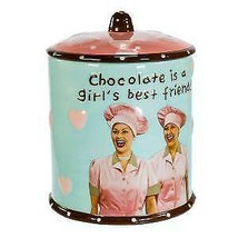 "I Love Lucy® ""Chocolate Is A Girl's Best Friend"" Cookie Jar w - $70.99"