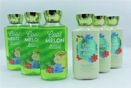 Bath & Body Works Cool Melon Kiwi Body Lotion Shower Gel Lot of 6 - $53.99