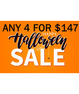 MON-TUES EARLY HALLOWEEN FLASH SALE! PICK ANY 4 FOR $147  BEST OFFERS DISCOUNT - Freebie