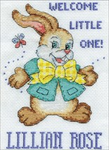 "Design Works Counted Cross Stitch Kit 5""X7""-Welcome Bunny (14 Count) - $10.82"