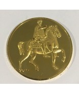 24k Gold On Sterling Silver Marcus Aurelius Medal Coin - $149.60