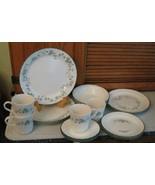 Corelle CALLAWAY 24 Pc Dinnerware Set Green Ivy Lunch Dinner Plates MUGS... - $59.39