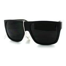 Super Dark Lens Black Square Frame Sunglasses Mens Fashion - $9.85