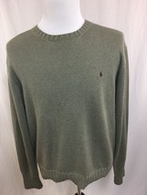 Polo Ralph Lauren Men Sweater Sage Green Crewneck 100% Cotton Large L - $18.65