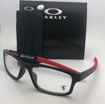 Scuderia Ferrari OAKLEY Eyeglasses CROSSLINK OX8037-1554 54-18 Black & Red Frame - $249.99