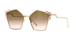 Fendi Studded CAN EYE FF 0261/S 000/53 Sunglasses Rose Gold/Pink Geometric 57mm - $128.65