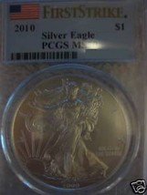 2010 Silver Eagle  PCGS MS70 First Strike - $89.99
