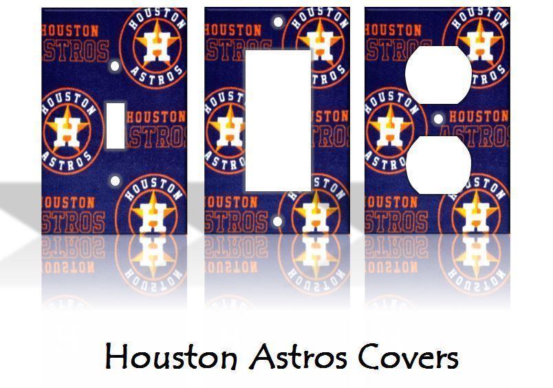 Houston Astros #2 Light Switch Covers Baseball MLB Home