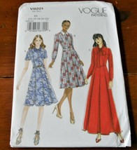 Vogue Pattern V9201 Dress Shirtwaist New Factory Folded - $14.35