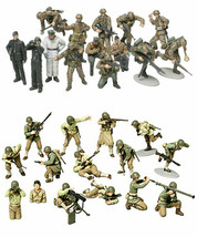 2 Tamiya WW2 Military Models - US Army and Russians with Tank Crew  - $27.71