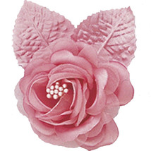 "12 silk roses wedding favor flower corsage mauve dusty rose 2.75"" - $7.72"