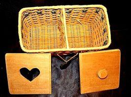 Tender Heart Treasures Woven Handmade Basket AA18-1359 Vintage 1995 image 3