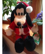 "Vintage 90's Disney Macy's Exclusive Santa Goofy Limited Edition 18"" New... - $18.99"