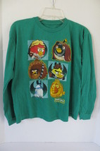 Boy's Green Star Wars Angry Birds Blue Long Sleeves T-Shirt Size L - $7.69