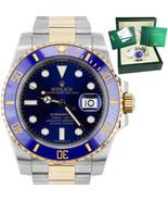 2016 MINT Rolex Submariner Ceramic 116613 LB 18K Two-Tone Gold Blue Dive... - $12,493.21