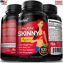 100% Natural Diet Pills SKINNY AGAIN, Lose Belly Fat Fast, Non-GMO, Glut... - $39.45