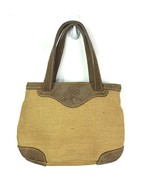 Tommy Bahama mini canvas leather purse tan brown - $24.75