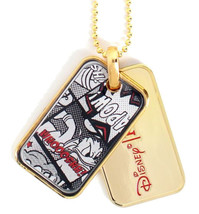 Officially Licensed Disney Flud Mickey Mouse Donald Duck Comic Gold Dog Tags NIB image 1