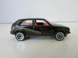 MATTEL HOT WHEELS DIECAST CAR 1989 FAHRVERGNUGEN BLACK VW VOLKSWAGON GOL... - $8.77