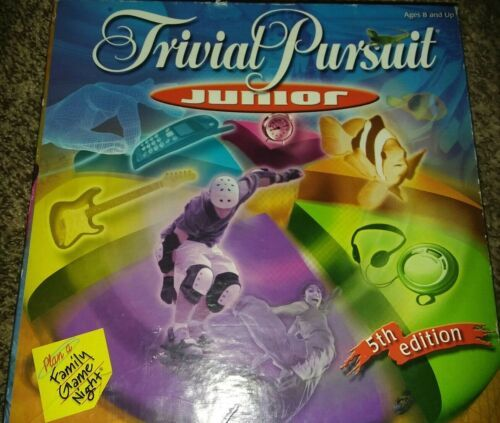 Primary image for Hasbro Trivial Pursuit Junior Board Game 5th edition 2001 Kids Family Game