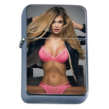 Polish Pin Up Girls D25 Flip Top Oil Lighter Wind Resistant With Case - $12.82