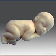 Lifelike Baby Fynn - Detail of high relief sculpture, silicone Soap/clay... - $25.74