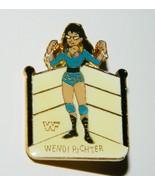 WWF Wrestling Personality Wendi Richter Figure Enamel Metal Pin 1990 MINT - $7.84