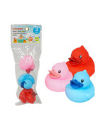 Three Piece Rubber Ducky Set Assorted Colors - $4.46