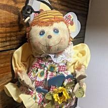 Bumblee Doll Spring Home Decor Fabric Stuff Shelve Sitter Summer Bee - $17.30