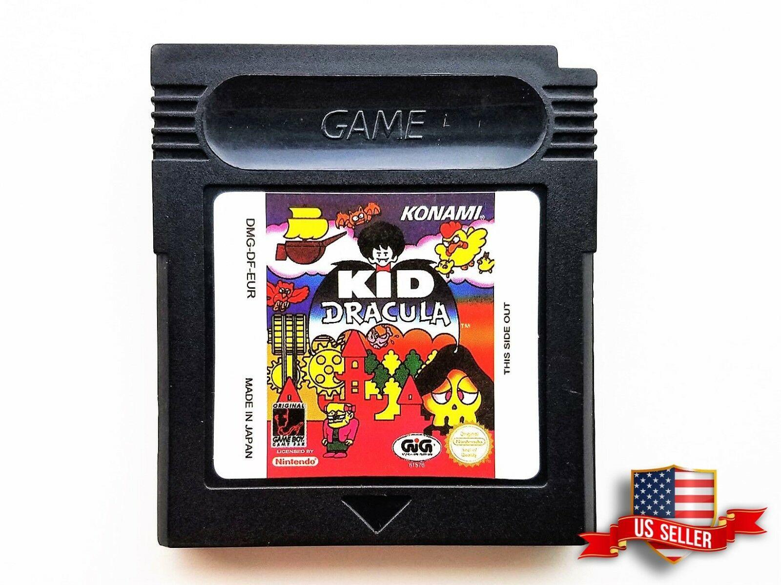 Kid Dracula Nintendo Game Boy - Custom Black Shell (Konami / Castlevania) - USA