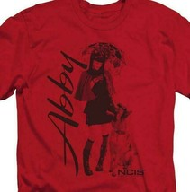 "NCIS t-shirt Abigail ""Abby"" Sciuto TV drama series red graphic tee CBS917 image 2"