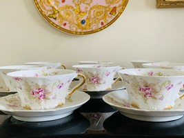 Antique Theodore Haviland Limoges Set of 8 Cups and Saucers - $399.00