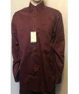 Men's Ariat Western Long Sleeve Button Front Burgundy Shirt Large Tall 1... - $43.53