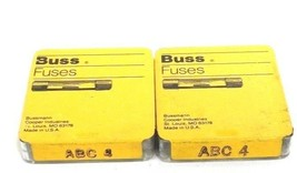 LOT OF 10 NEW BUSSMANN ABC-4 BUSS FUSETRON FUSES 4A 250V